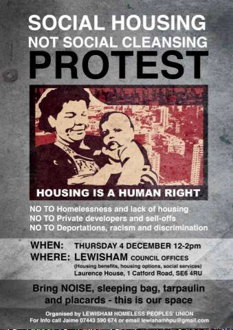 Poster for the protest this month