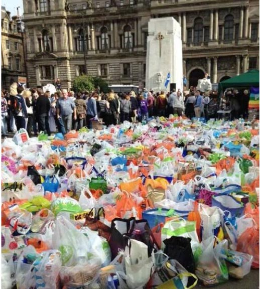Shopping bags donated in George Square