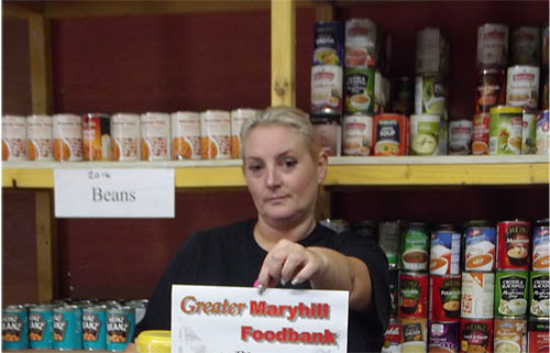 The number of people who rely on food banks, such as the hugely popular Greater Maryhill Foodbank in Glasgow, has soared by 400 per cent over the past 12 months. Photograph © Brenda Brown