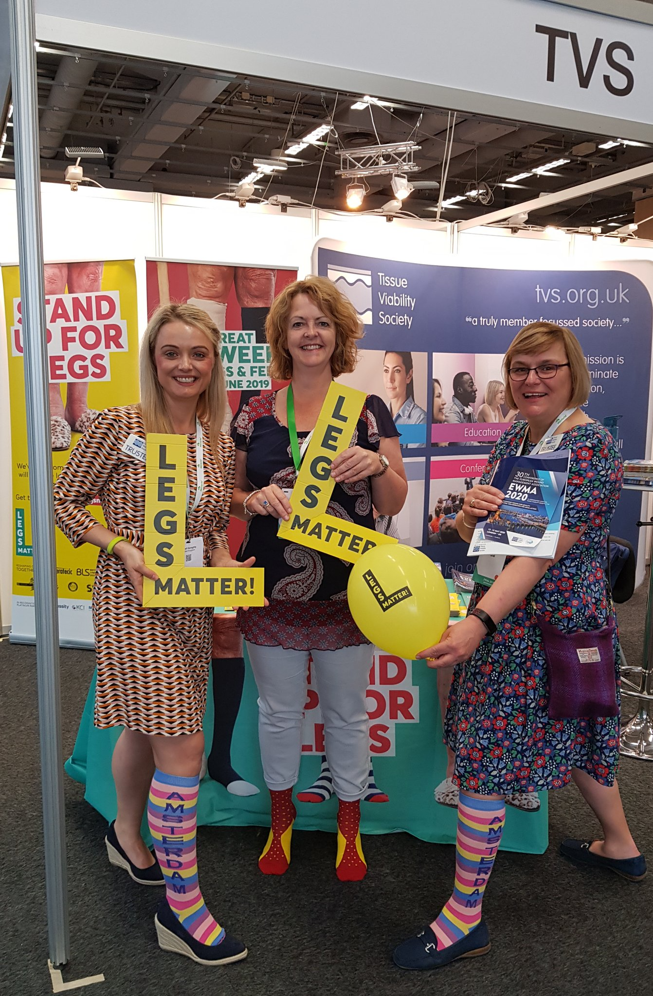 Dr Jemell Geraghty (left) with trustees from the Legs Matter campaign on tour. © Legs Matter